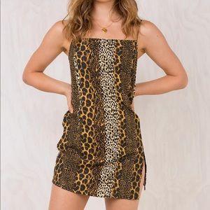 Princess polly striped animal print dress
